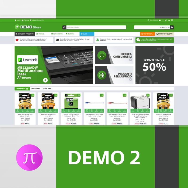 Tema    Demo 2 - Green- Grey