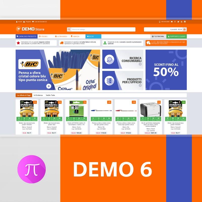 Tema    Demo 6 - Orange- Blue