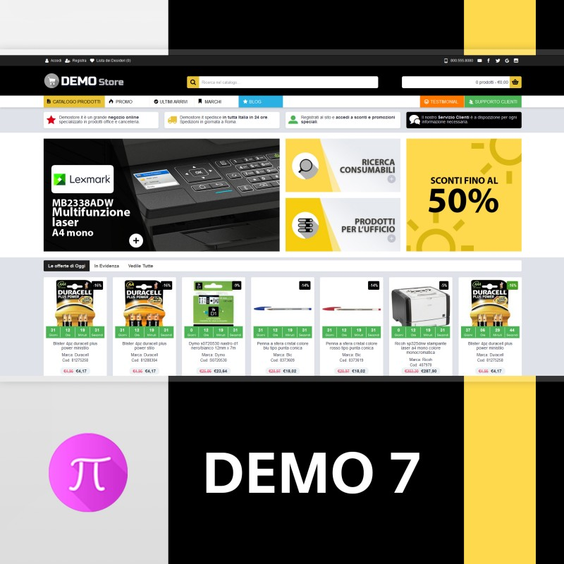 Tema  | Demo 7 - Black- Yellow